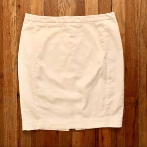 Express White Pencil Skirt